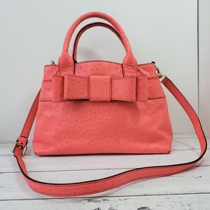 Kate Spade City Charm Coral Bow Satchel